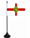 Alderney Desk / Table Flag with plastic stand and base.